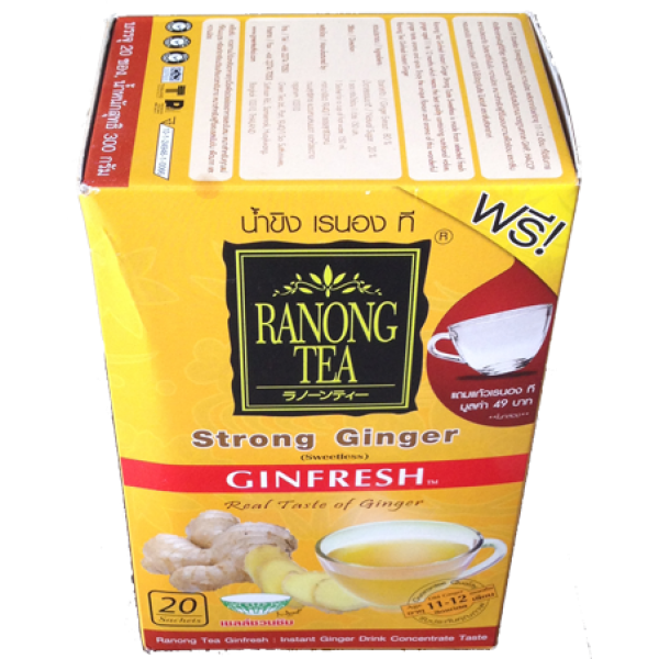 Zázvorový čaj Ranong Ginfresh - STRONG Ginger + šálka