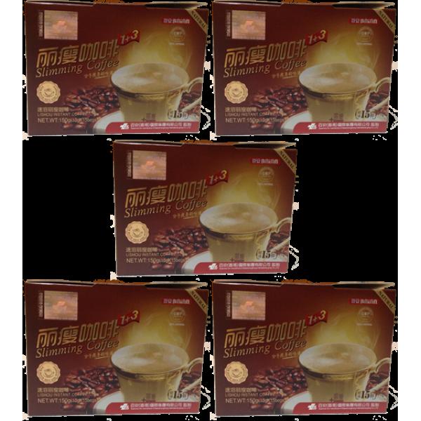 AKCIA - 5x Zoštíhľujúca káva BAiAN Lishou Slimming Coffee - DOPRAVA GRATIS!